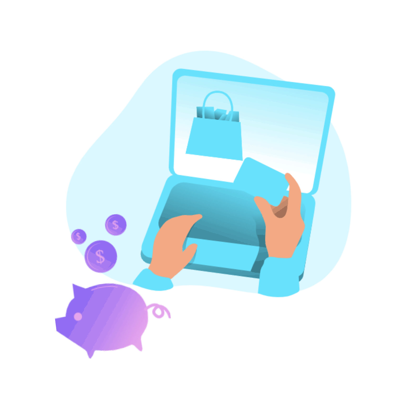 Illustration d'un paiement à la réservation