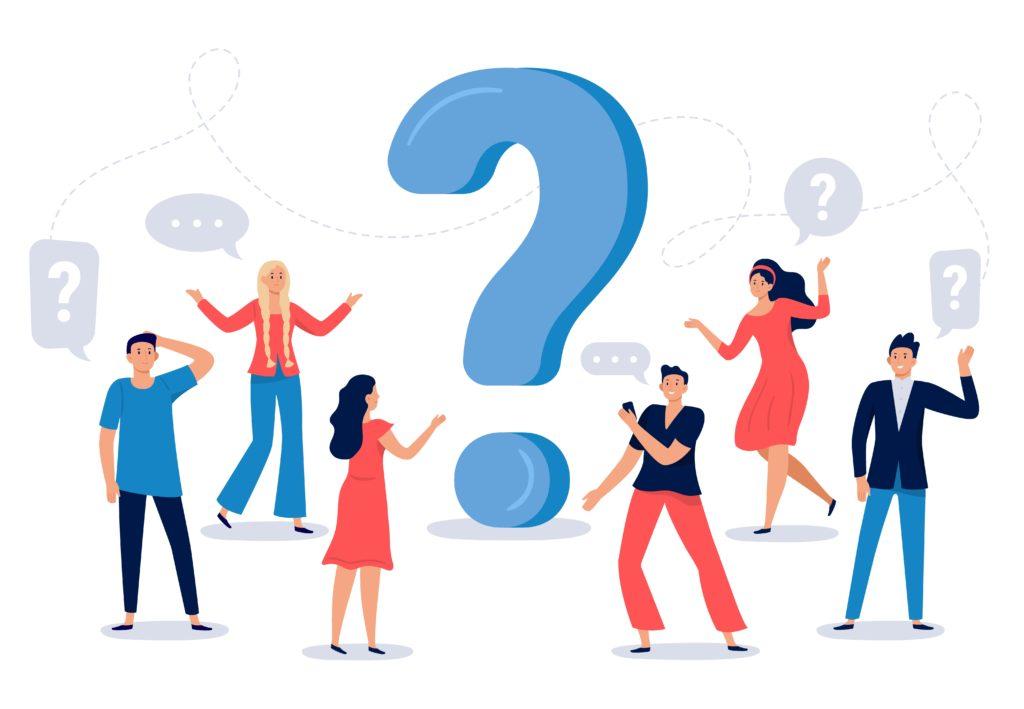illustration de Questions/Réponses avec des points d'interrogation