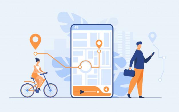 illustration montrant une application sur smartphone pour communiquer en temps de crise sanitaire.