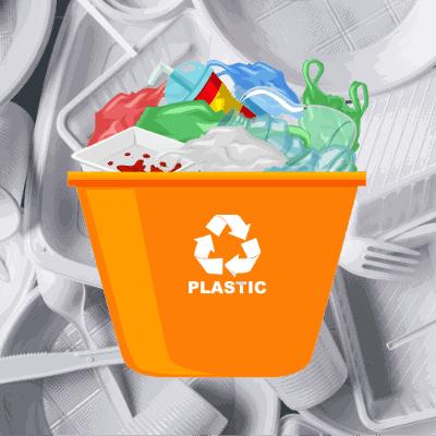 container tri plastique